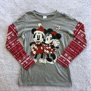 Disney Jerry Leigh Mickey and Minnie Holiday Top